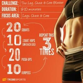 Challenge: Legs, Chest & Core